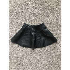 Pleather Girls Skirt